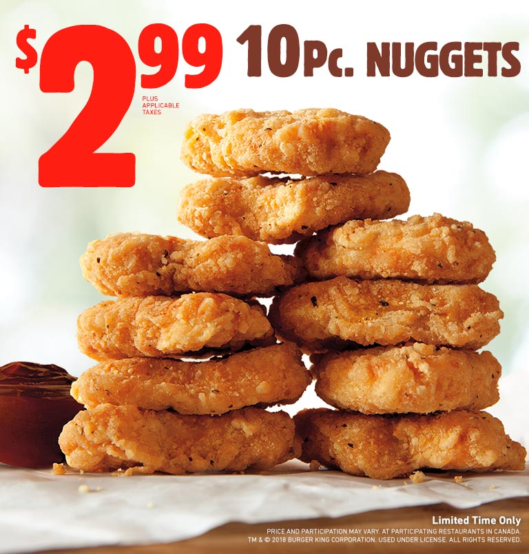 $2.99 10Pc. Original Nuggets