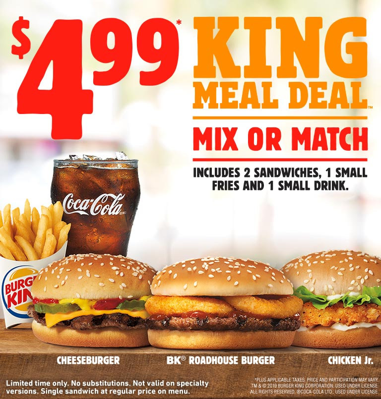 King Meal Deal (with Roadhouse Burger)