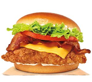 Bacon and Cheese Crispy Chicken Sandwich