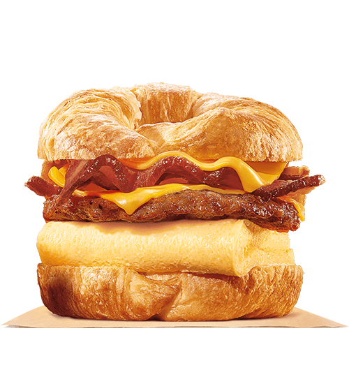 DOUBLE CROISSAN'WICH with Sausage & Bacon