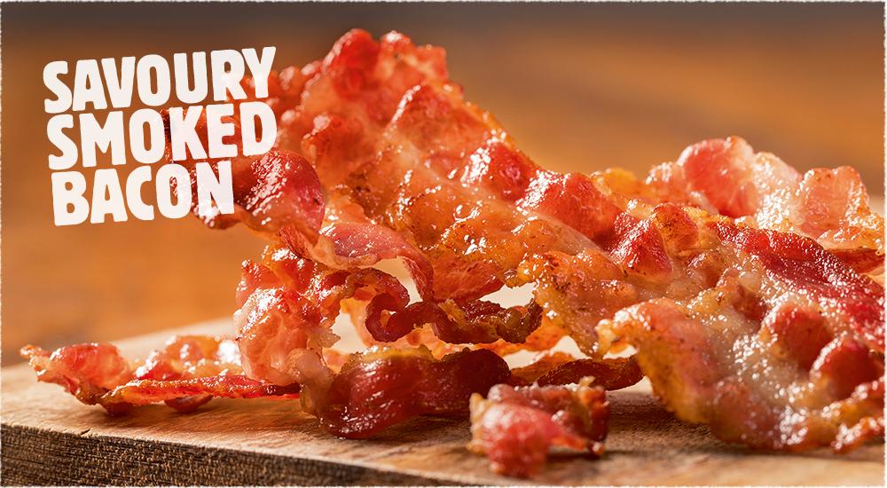 Savoury Smoked Bacon.