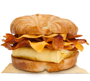 DOUBLE CROISSAN'WICH™ with Double Bacon