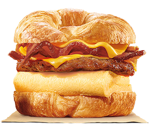 DOUBLE CROISSAN'WICH with Sausage & Baconๆ