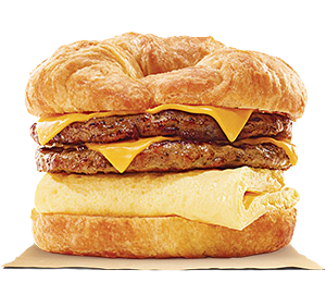 DOUBLE CROISSAN'WICH with Double Sausage